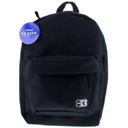 "12 of 17"" Black Basic Backpack"