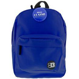 "12 of 17"" Blue Basic Backpack"
