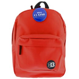 """12 of 17"""" Red Basic Backpack"""