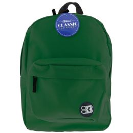 """12 of 17"""" Green Classic Backpack"""