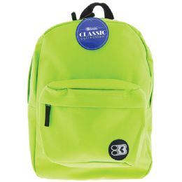 """12 of 17"""" Lime Green Classic Backpack"""