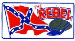 """24 of """"rebel Flag Soldier Metal License Plate"""