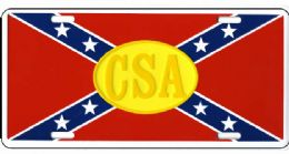 24 of Csa Rebel Flag Metal License Plate