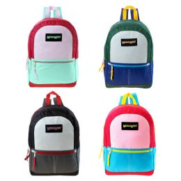 """24 of 17"""" Backpacks In 4 Assorted Colors"""