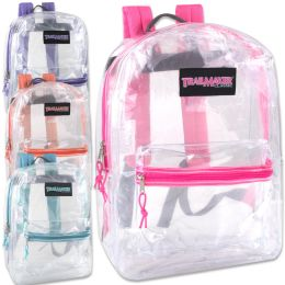 24 of Trailmaker Classic 17 Inch Clear Backpack - Girls