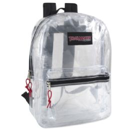 24 of Trailmaker 17 Inch Clear BackpacK- Black Only
