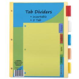 96 of 5 Pack Tab Dividers