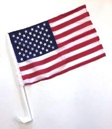 24 of SinglE-Sided Usa Car Flag