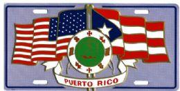 24 of Puerto Rico/u.s. Flag Metal License Plate