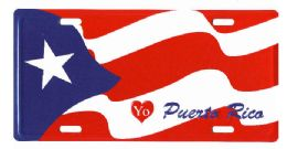 "24 of ""yo (love) Puerto Rico"" Metal License Plate"