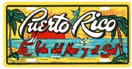 """24 of """"puerto Rico - La Isla Del Mar Y Del Sol"""" Metal License Plate"""