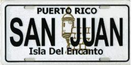"""24 of """"puerto Rico - San Juan - Isla Del Encanto"""" Metal License Plate"""