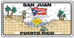 "24 of ""san Juan Puerto Rico"" Metal License Plate"