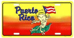 "24 of ""puerto Rico - Coqui"" Metal License Plate"