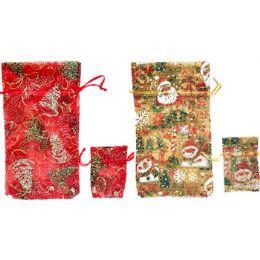 60 of Fancy Christmas Glitter Gift Bag, 2pk