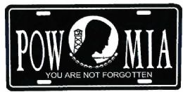 """24 of """"pow/mia You Are Not Forgotten"""" Metal License Plate"""