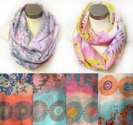 12 of Wholesale Infinity Circle Floral MultI-Color Circular Design
