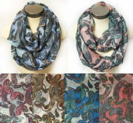12 of Wholesale Infinity Circle Floral MultI-Color Paisley Design