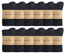 12 of Yacht & Smith Womens Knee High Socks, Cotton, Flat Knit, Solid Colors Black