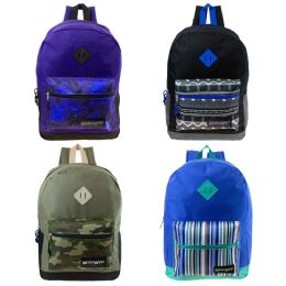 "24 of 17"" Backpack In 4 Assorted Print"
