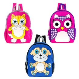"24 of 17"" Backpack In 3 Assorted Animal Prints"