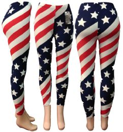 24 of American Flag All Over Print Legging One Size