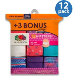 432 of Fruit Of The Loom 12 Pack Hipster Cut Underwear Size 4