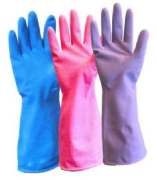 120 of Latex Gloves Medium/large - Pink