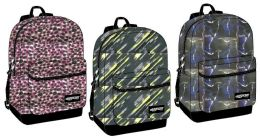 "24 of 17"" Backpacks W/ Front Zipper Pocket - Assorted Prints"