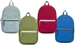 "24 of 17"" Laptop Backpacks W/ Organizer Pocket - Assorted Colors"