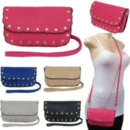 36 of Scalloped Edge Crossbody Bags With/ Studded Adornment