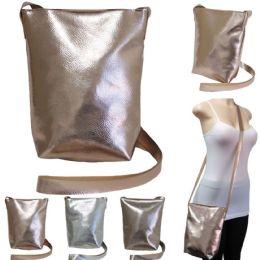"36 of 10"" Metallic Crossbody Bags - Assorted Colors"