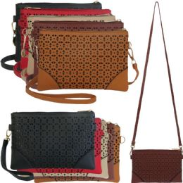 36 of Lazer Cut Crossbody Bags With/ Detachable Straps