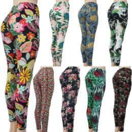 60 of Women's Fashion Leggings - Assorted Floral Prints