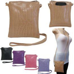 36 of Crossbody Bags With/ Rear Phone Pocket - Crocodile Prints