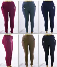 72 of Women's Plus Size PulL-On Pants With/ Side Zipper - Assorted Colors - Sizes 1X-3x