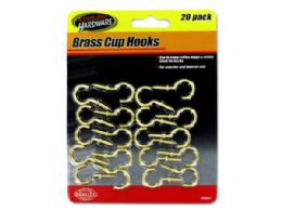 72 of Brass Cup Hooks