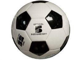 6 of Size 5 Black & White Glossy Soccer Ball