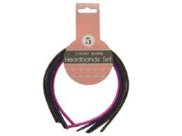 72 of Colored Sparkle Headbands Set