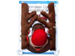 12 of Reindeer Holiday Car Decoration Set
