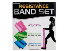 12 of Resistance Band Set With 3 Tension Levels