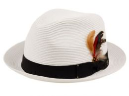 12 of Poly Braid Fedora Hats With Band And Feather