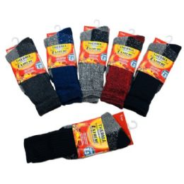 36 of Men's Thermal Crew Socks 10-13 [assorted]