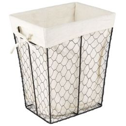 24 of Rectangle Wire Basket W/cotton Liner