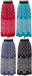 24 of Printed Skirt Assorted