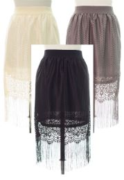 18 of Lace Shell Knee Length Skirt Assorted