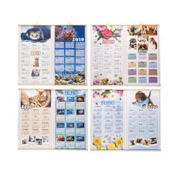 96 of Calendar Scroll Wall 2019/2020 2 Sided 12.5x22 Inches