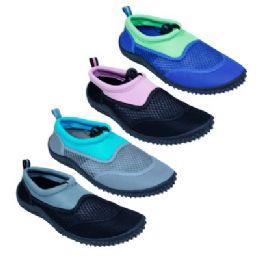 48 of Women's Assorted Colors Aqua Shoes