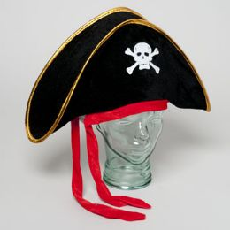 24 of Pirate Hat Velvet Adult Size