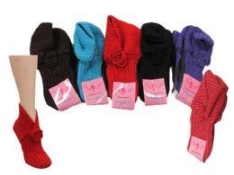 24 of Ladies Winter Knit Slipper Socks